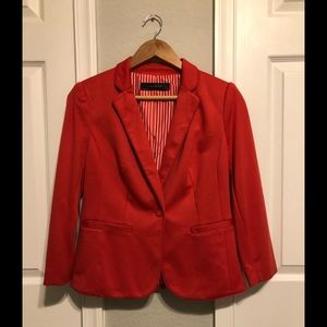 Orange/Red Blazer. Only worn once. Size Small